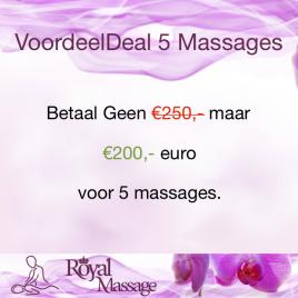 50 Euro Korting Bij 5 Massages